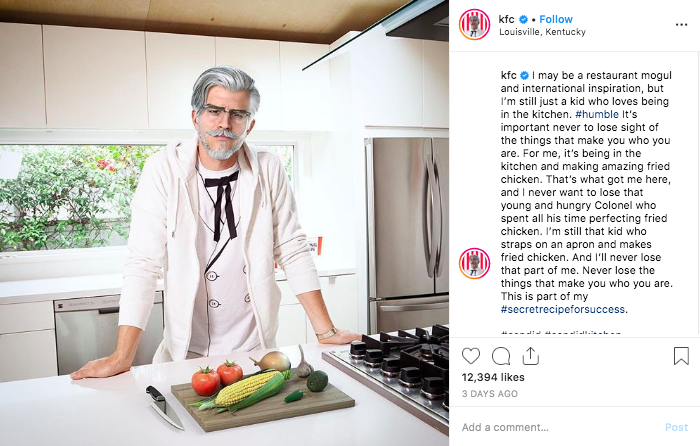 KFC's Colonel Sanders digital influencer